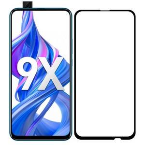 Стекло защитное Full Glue Premium Krutoff для Huawei Y9 Prime 2019/P Smart Z/Honor 9X/9X PRO черное - фото 43568