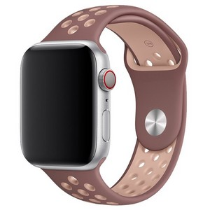 Ремешок Krutoff Silicone Sport для Apple Watch 38/40mm (purple/beige) 29 - фото 44425