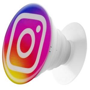 Пластмассовый держатель Krutoff для телефона Попсокет Instagram - фото 47499