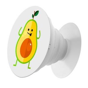 Пластмассовый держатель Krutoff для телефона Попсокет Авокадо весёлый - фото 50974