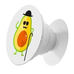 Пластмассовый держатель Krutoff для телефона Попсокет Авокадо деловой - фото 50988