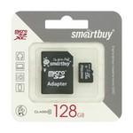 MicroSD 128GB Smart Buy Class 10 + SD адаптер