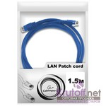 Патч-корд UTP Cablexpert PP12-1.5M/B кат.5e, 1.5м, литой, многожильный (синий)