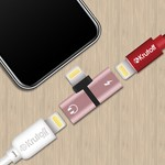 Переходник Lightning - Lightning Charging+Lightning EarPods (rose gold)