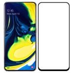 Стекло защитное Full Glue Krutoff для Samsung Galaxy A80 черное