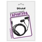 Наушники с микрофоном Krutoff HF-Q1 черные (пакет)