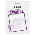 Наушники с микрофоном Krutoff HF-Q1 белые (пакет)