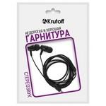 Наушники с микрофоном Krutoff HF-T83 черные (пакет)