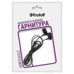 Наушники с микрофоном Krutoff HF-P1 черные (пакет)