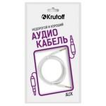 Аудио кабель AUX Krutoff Classic белый 1m (пакет)