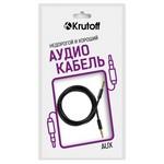 Аудио кабель AUX Krutoff Classic черный 1m (пакет)
