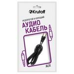 Аудио кабель AUX Krutoff Spiral черный 1.8m (пакет)