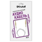 Аудио кабель AUX Krutoff Spring белый 1m (пакет)