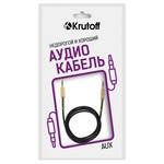 Аудио кабель AUX Krutoff Spring черный 1m (пакет)
