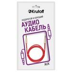 Аудио кабель AUX Krutoff Spring красный 1m (пакет)