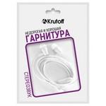 Наушники с микрофоном Krutoff HF-T83 белые (пакет)