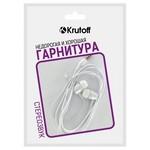 Наушники с микрофоном Krutoff HF-J69 белые (пакет)