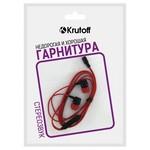 Наушники с микрофоном Krutoff HF-J69 красные (пакет)