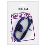 Наушники с микрофоном Krutoff HF-J69 синие (пакет)