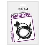 Наушники с микрофоном Krutoff HF-Z67 черные (пакет)