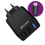 СЗУ Krutoff CH-07C 2xUSB, 2.4A + кабель USB Type-C (black)