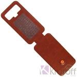 Чехол-флип Krutoff универсальный для смартфонов 4,5-5 с вырезом под камеру (коричневый)