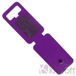 Чехол-флип Krutoff универсальный для смартфонов 4,5-5 с вырезом под камеру (фиолетовый)
