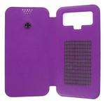 Чехол-книжка Krutoff универсальный для смартфонов 4,5-5 с вырезом под камеру (фиолетовый)