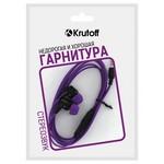 Наушники с микрофоном Krutoff HF-J69 фиолетовые (пакет)