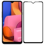 Стекло защитное Full Glue Krutoff для Samsung Galaxy A20s черное