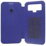 Чехол-книжка Krutoff универсальный для смартфонов 5,5-6 с вырезом под камеру (синий)