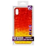 Накладка силиконовая Crystal Krutoff для iPhone XS Max (желто-красная)