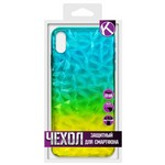 Накладка силиконовая Crystal Krutoff для iPhone XS Max (желто-синяя)