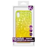 Накладка силиконовая Crystal Krutoff для iPhone X/XS (желтая)
