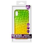 Накладка силиконовая Crystal Krutoff для iPhone X/XS (желто-зеленая)
