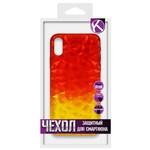 Накладка силиконовая Crystal Krutoff для iPhone X/XS (желто-красная)