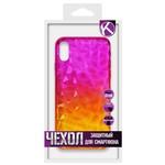 Накладка силиконовая Crystal Krutoff для iPhone X/XS (желто-розовая)