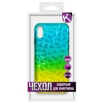 Накладка силиконовая Crystal Krutoff для iPhone X/XS (желто-синяя)