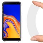 Стекло защитное гибридное Krutoff для Samsung Galaxy J4+ (2018) / J6+ (2018)