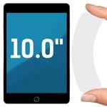 """Стекло защитное гибридное Krutoff универсальное для планшетов 10.0"""""""