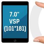 """Стекло защитное гибридное Krutoff универсальное для планшетов 7.0"""" VSP (101*181)"""