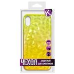 Накладка силиконовая Crystal Krutoff для iPhone XR (желтая)