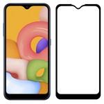 Стекло защитное Full Glue Premium Krutoff для Samsung Galaxy A01/M01 черное