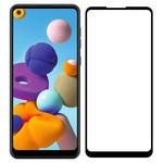 Стекло защитное Full Glue Premium Krutoff для Samsung Galaxy A21/A21s черное