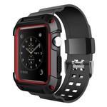 Ремешок Krutoff One-piece для Apple Watch 38/40mm (black/red)