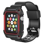 Ремешок Krutoff One-piece для Apple Watch 42/44mm (black/red)