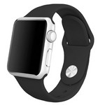 Ремешок Krutoff Silicone для Apple Watch 42/44mm (black) 1