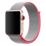 Ремешок Krutoff Nylon для Apple Watch 38/40mm (gray/pink) 42