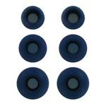 Комплект амбушюр Krutoff для наушников (3 пары, размер S, M, L) синие
