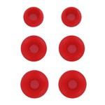 Комплект амбушюр Krutoff для наушников (3 пары, размер S, M, L) красные